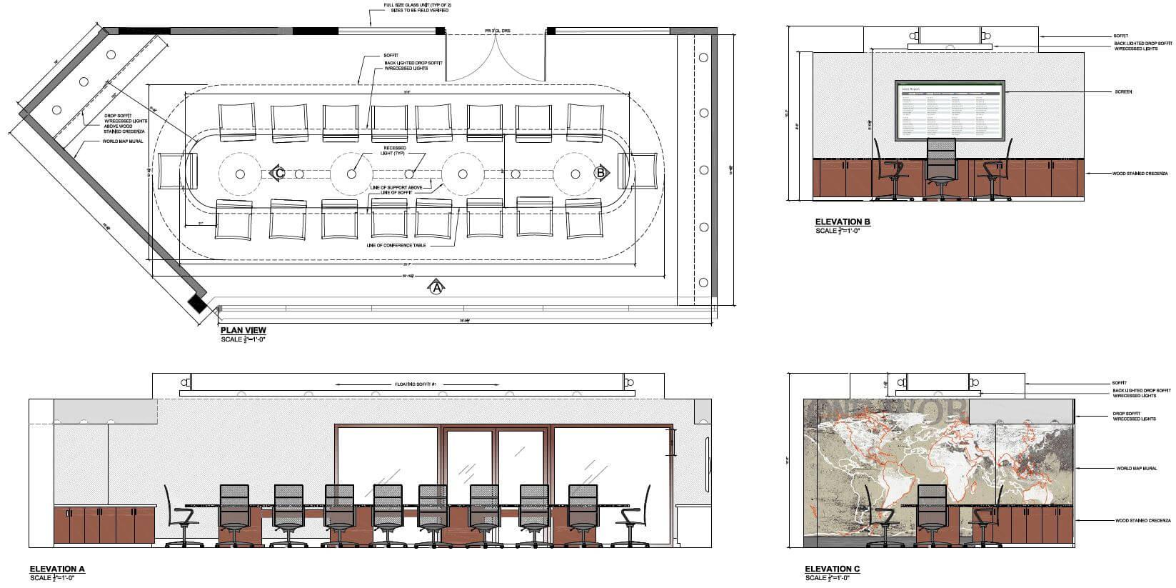Corporate Boardroom Interior and Design Floor Designs