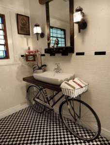 interior & design llc bicycle vanity